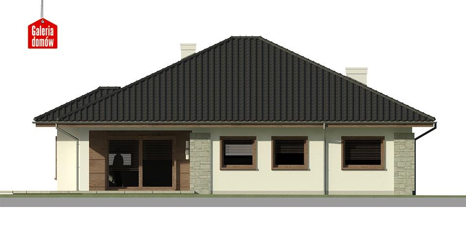 Dom przy Pastelowej 2 bis - elewacja tylna