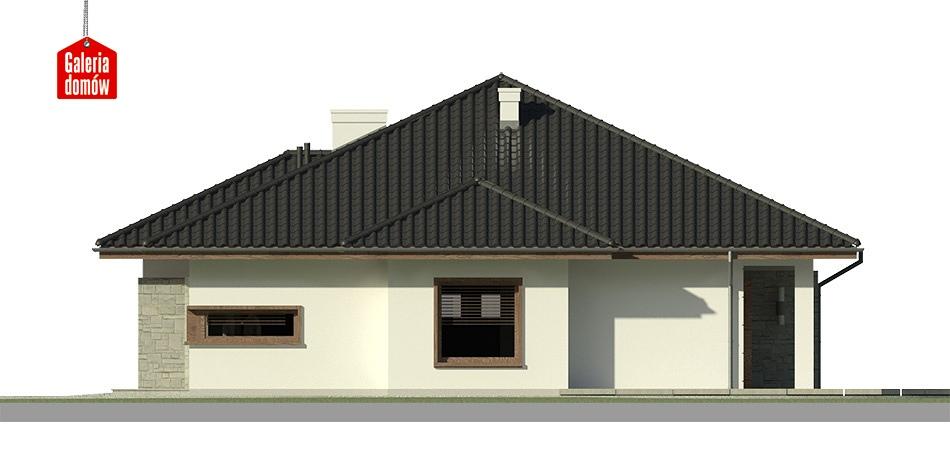 Dom przy Pastelowej 2 bis - elewacja lewa