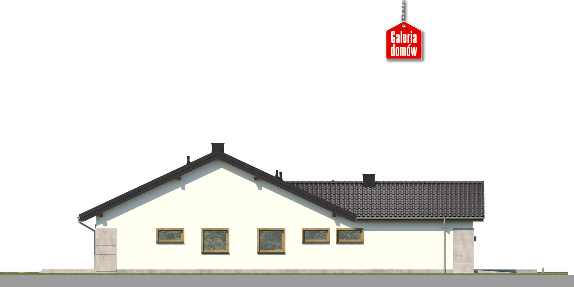 Dom przy Pastelowej 20 - elewacja lewa