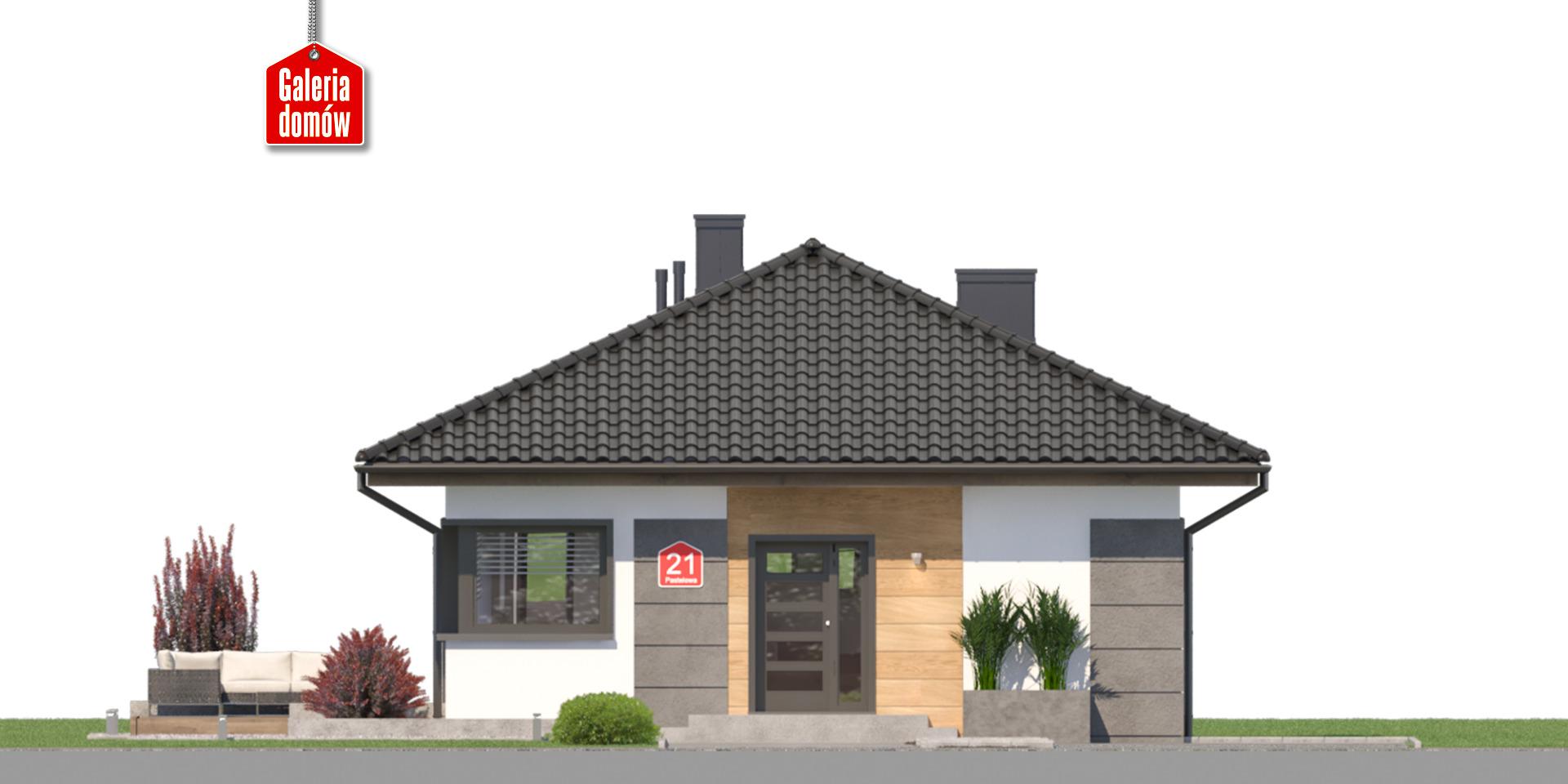 Dom przy Pastelowej 21 - elewacja frontowa