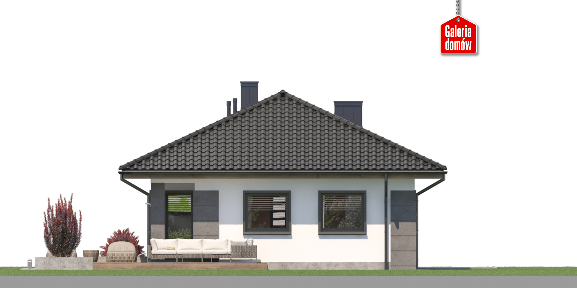 Dom przy Pastelowej 21 - elewacja tylna