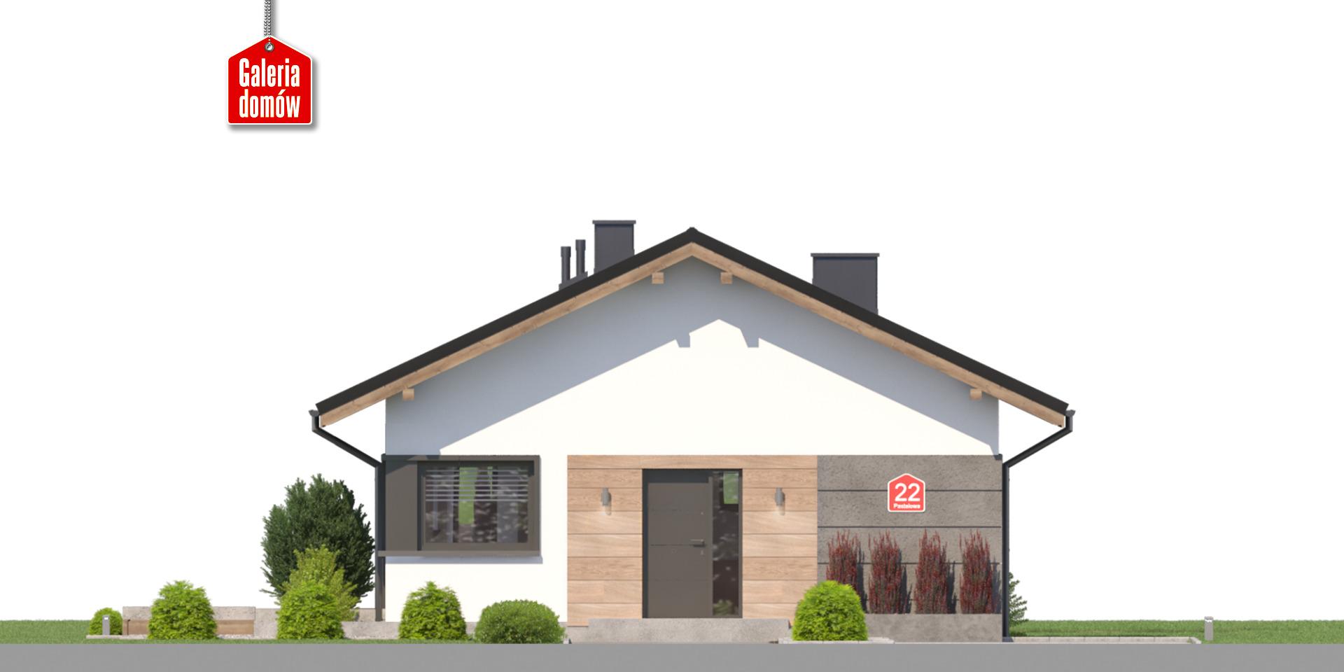 Dom przy Pastelowej 22 - elewacja frontowa