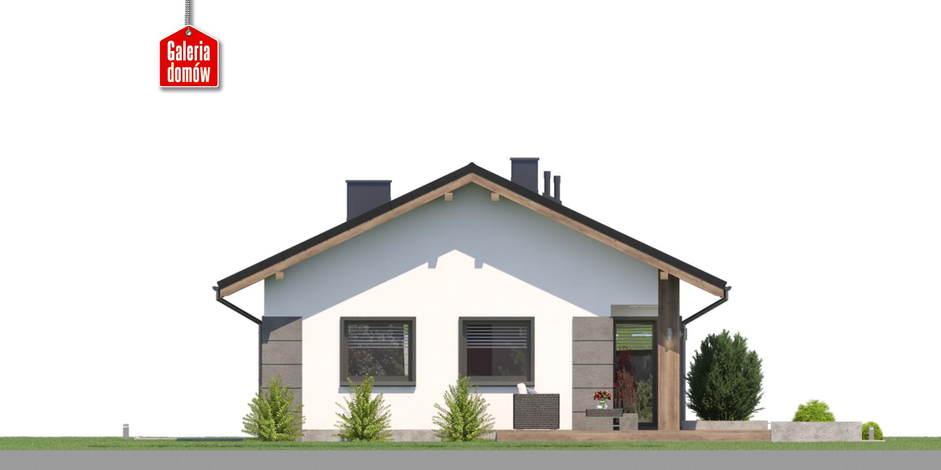 Dom przy Pastelowej 22 - elewacja tylna