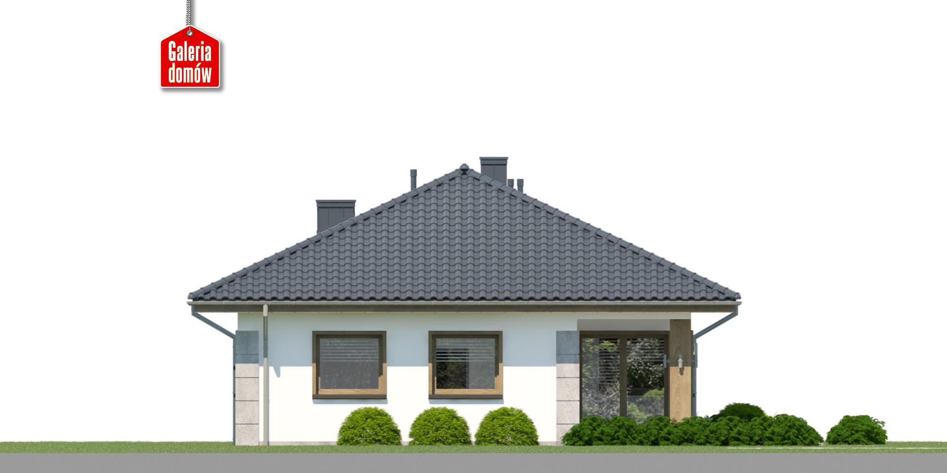 Dom przy Pastelowej 23 - elewacja tylna