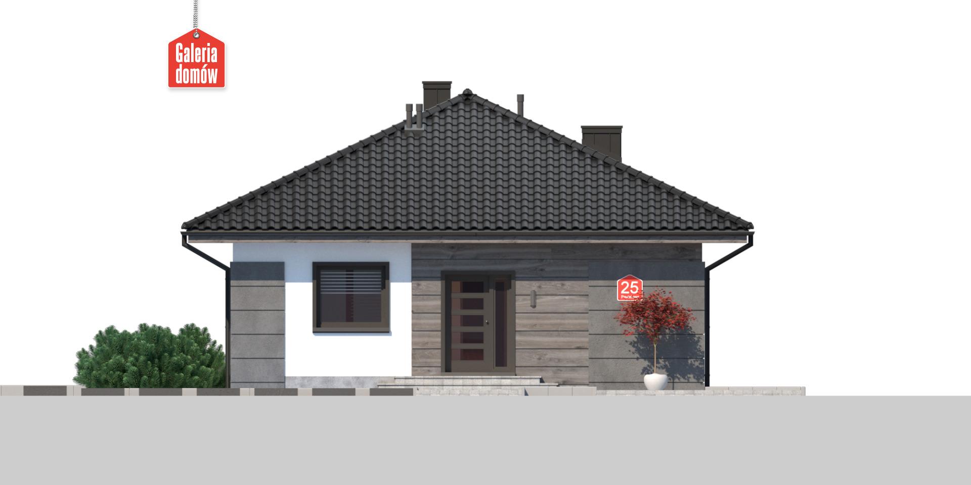 Dom przy Pastelowej 25 - elewacja frontowa