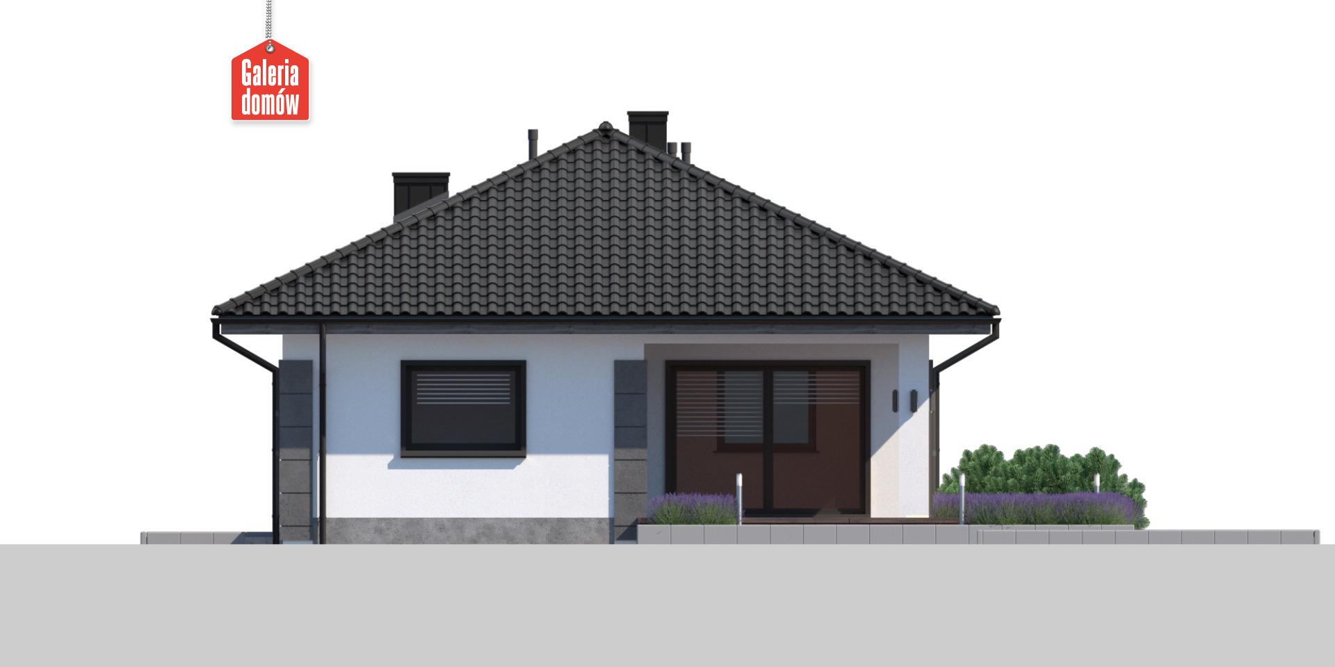 Dom przy Pastelowej 25 - elewacja tylna