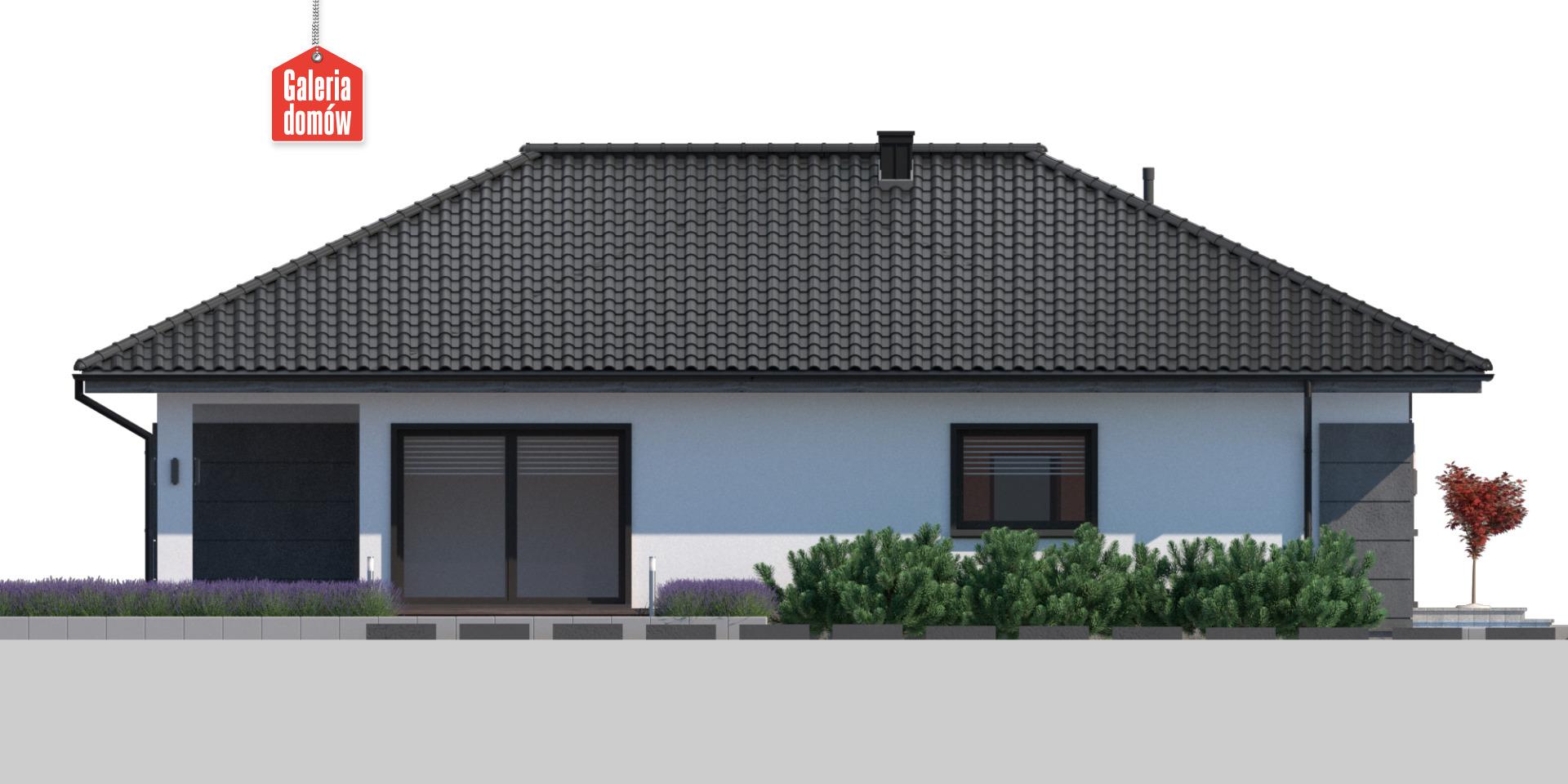 Dom przy Pastelowej 25 - elewacja lewa