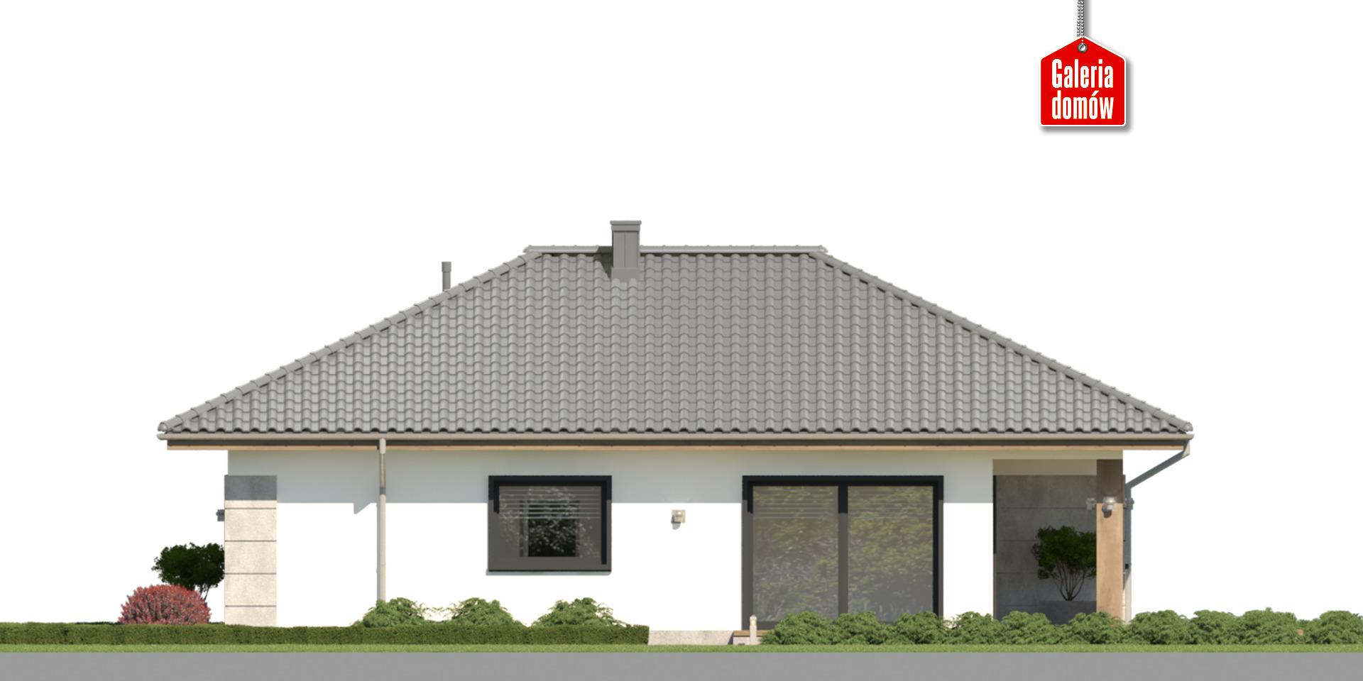 Dom przy Pastelowej 27 - elewacja lewa