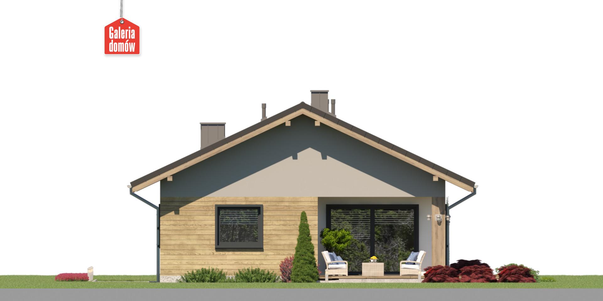 Dom przy Pastelowej 28 - elewacja tylna