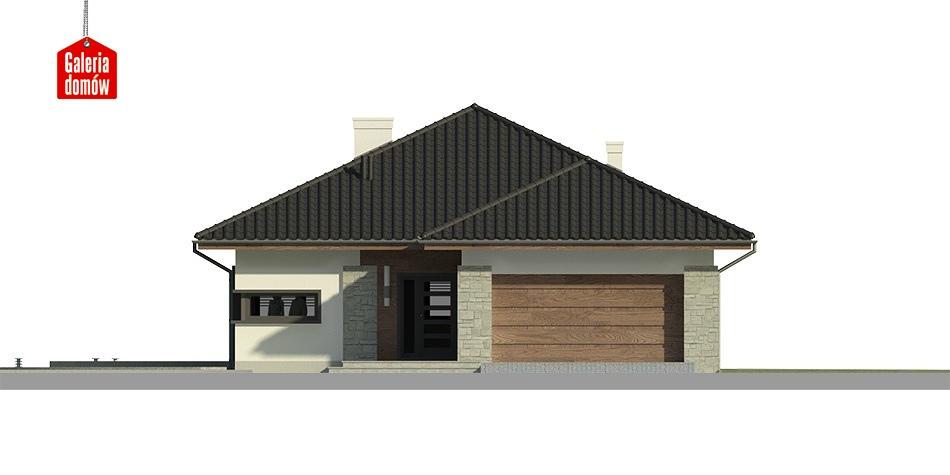 Dom przy Pastelowej 3 - elewacja frontowa