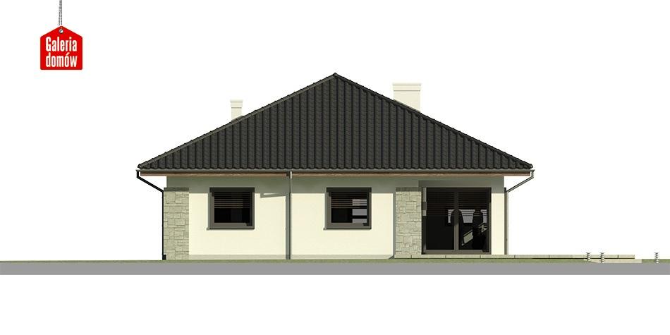 Dom przy Pastelowej 3 - elewacja tylna