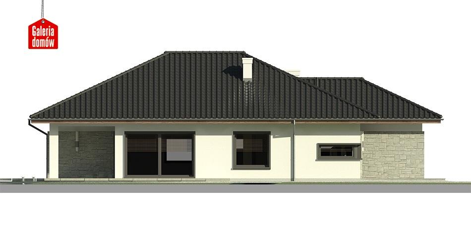 Dom przy Pastelowej 3 - elewacja lewa