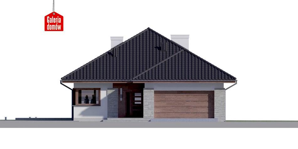 Dom przy Pastelowej 4 bis - elewacja frontowa