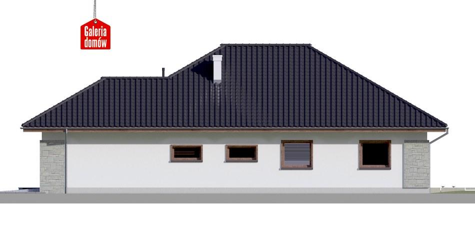 Dom przy Pastelowej 4 bis - elewacja prawa