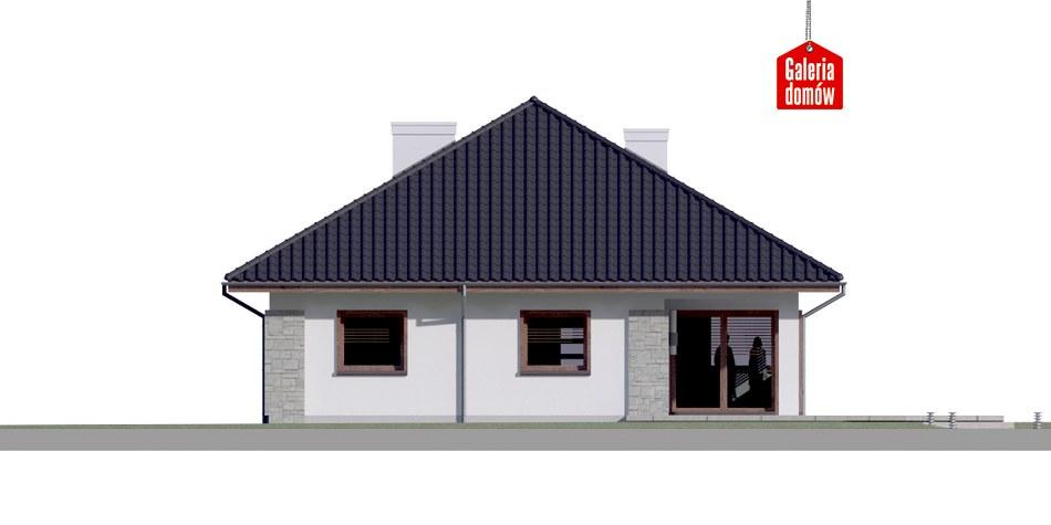 Dom przy Pastelowej 4 bis - elewacja tylna