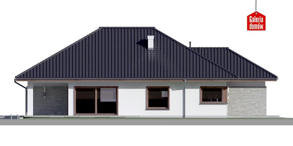 Dom przy Pastelowej 4 bis - elewacja lewa