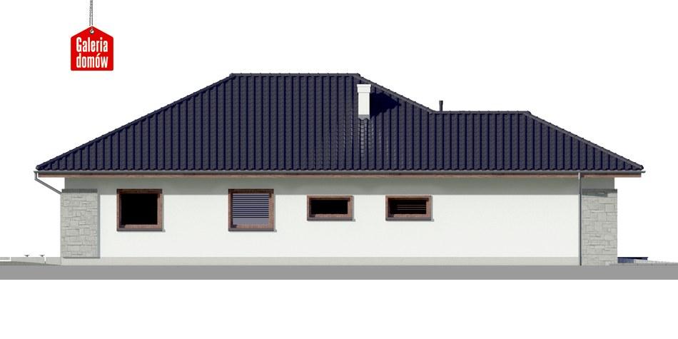 Dom przy Pastelowej 4 - elewacja prawa