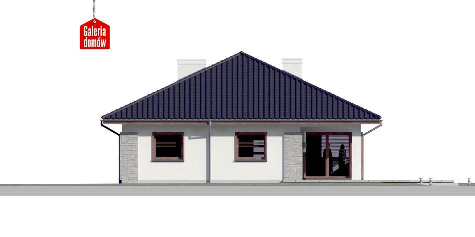Dom przy Pastelowej 4 - elewacja tylna