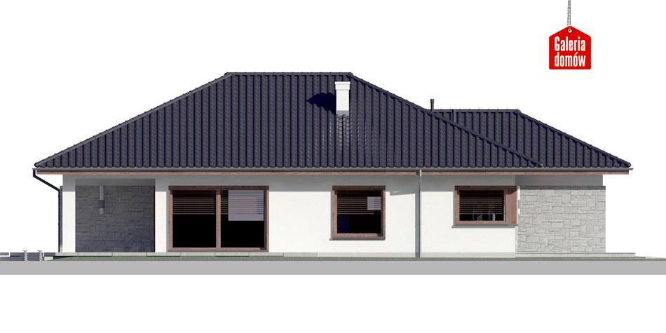 Dom przy Pastelowej 4 - elewacja lewa