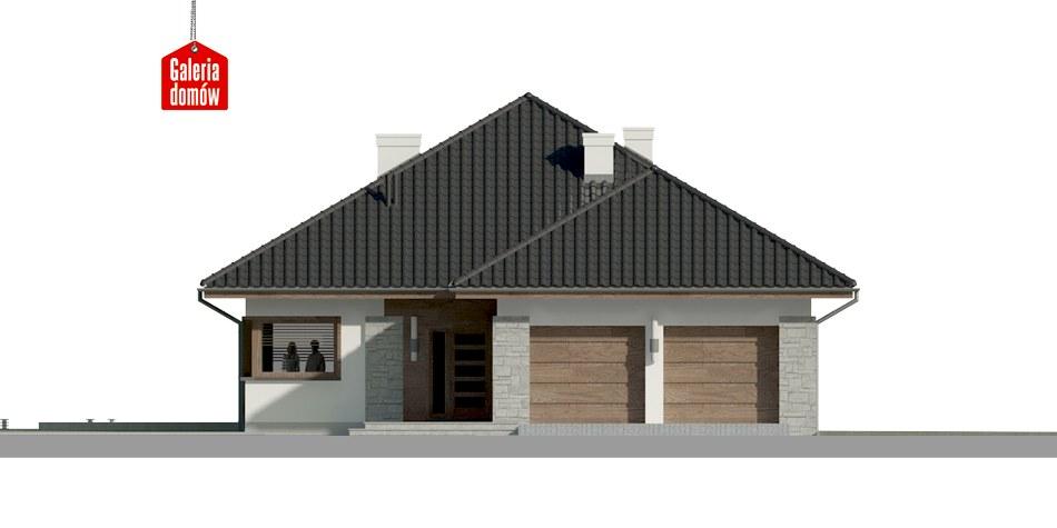 Dom przy Pastelowej 5 bis - elewacja frontowa