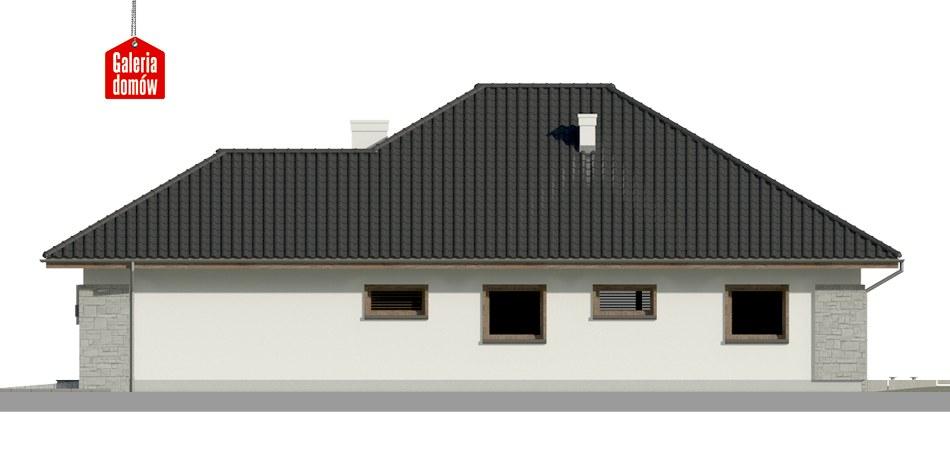 Dom przy Pastelowej 5 bis - elewacja prawa