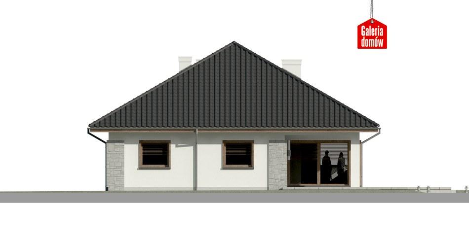 Dom przy Pastelowej 5 bis - elewacja tylna
