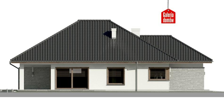 Dom przy Pastelowej 5 bis - elewacja lewa