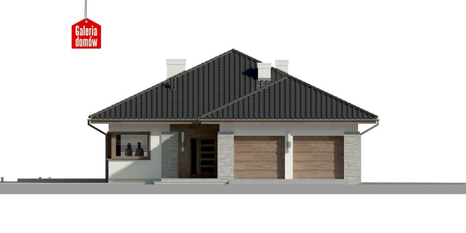 Dom przy Pastelowej 5 - elewacja frontowa