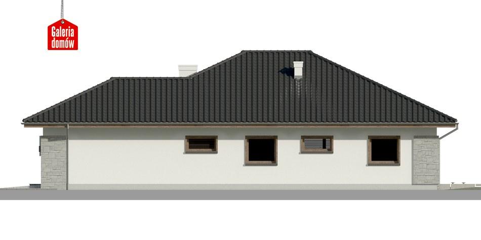 Dom przy Pastelowej 5 - elewacja prawa