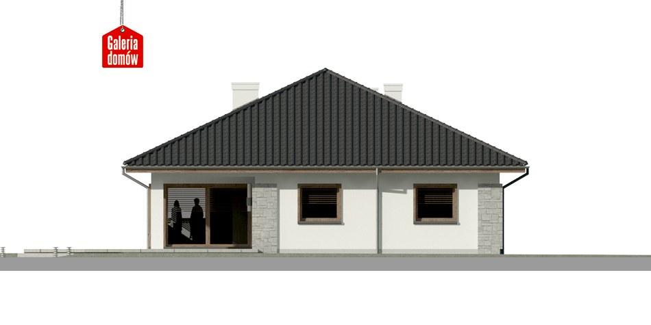 Dom przy Pastelowej 5 - elewacja tylna