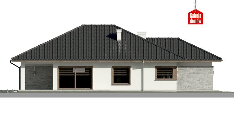 Dom przy Pastelowej 5 - elewacja lewa