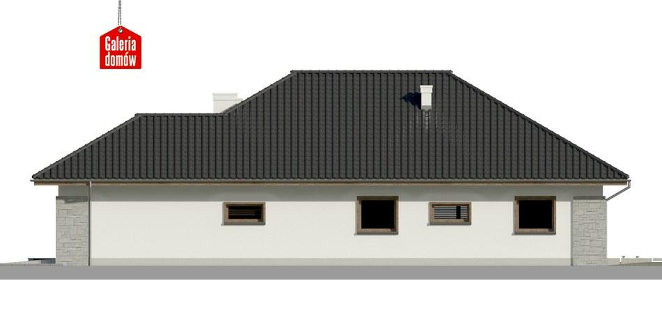 Dom przy Pastelowej 6 bis - elewacja prawa