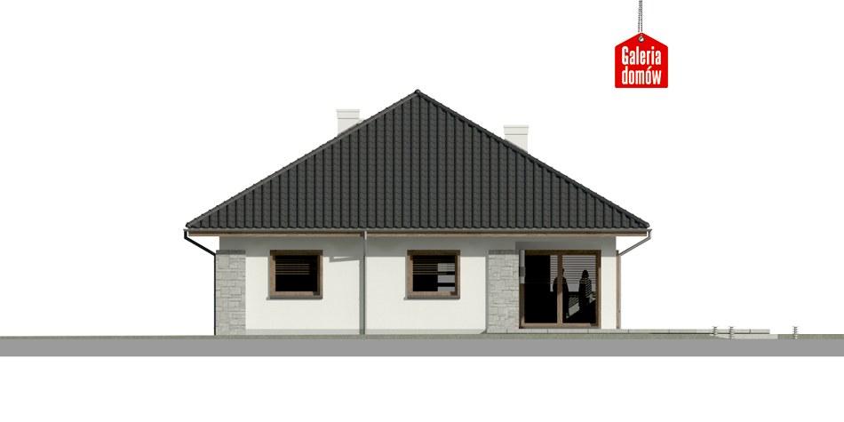 Dom przy Pastelowej 6 bis - elewacja tylna