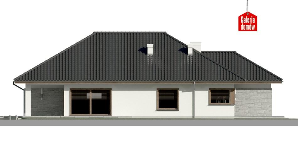Dom przy Pastelowej 6 bis - elewacja lewa