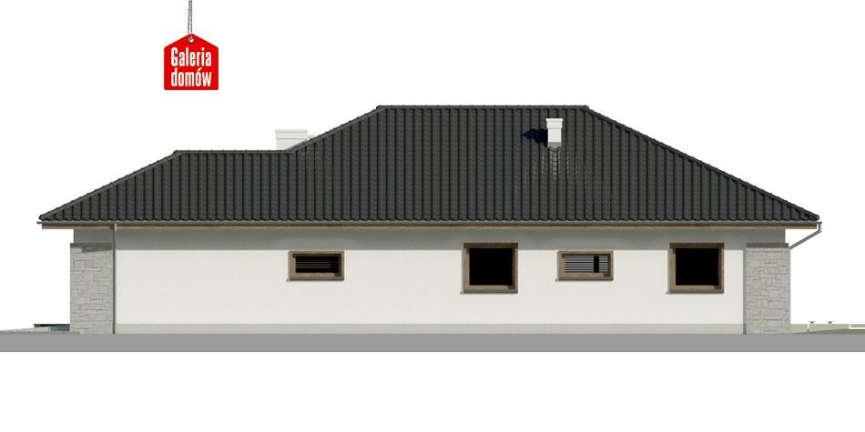 Dom przy Pastelowej 6 - elewacja prawa