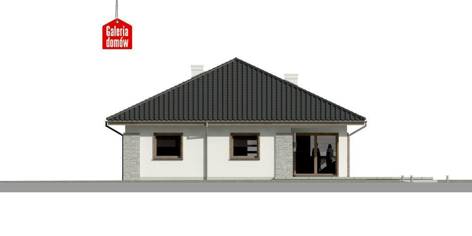 Dom przy Pastelowej 6 - elewacja tylna
