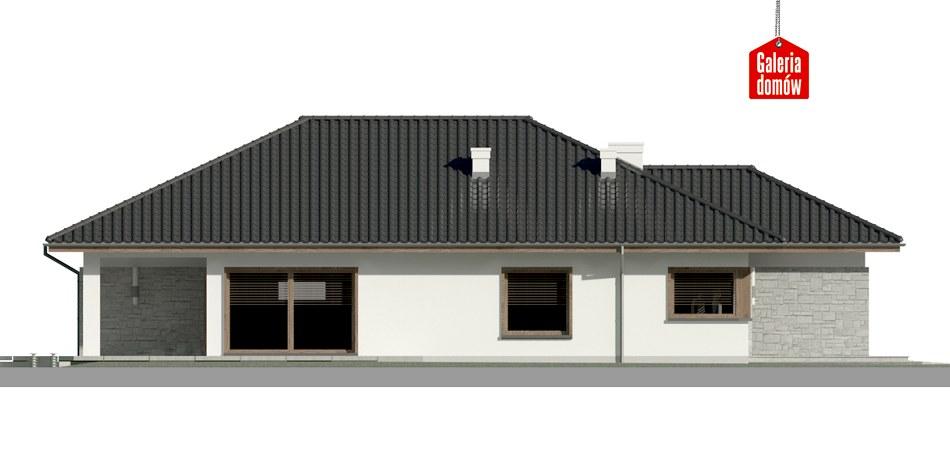 Dom przy Pastelowej 6 - elewacja lewa