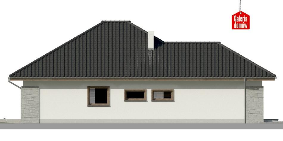 Dom przy Pastelowej 7 bis - elewacja prawa