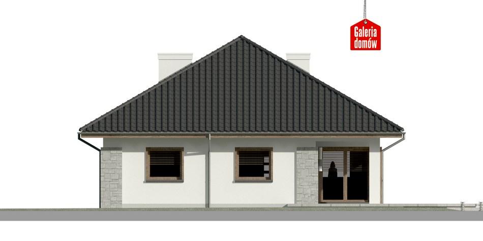 Dom przy Pastelowej 7 bis - elewacja tylna