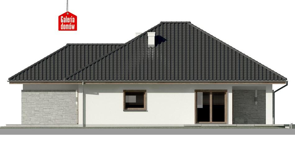 Dom przy Pastelowej 7 bis - elewacja lewa