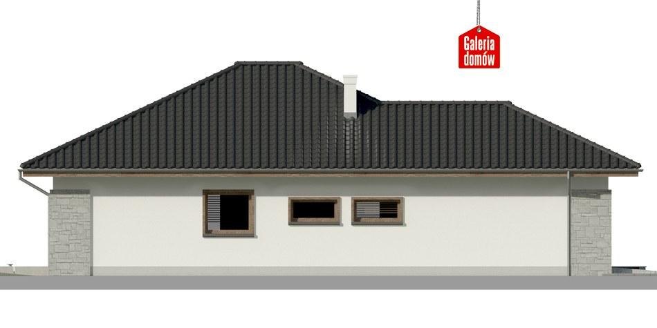 Dom przy Pastelowej 7 - elewacja prawa