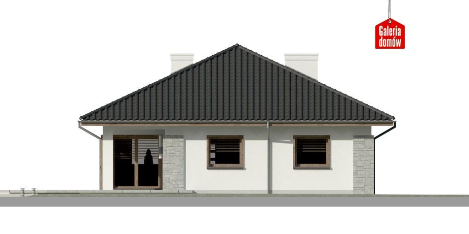 Dom przy Pastelowej 7 - elewacja tylna