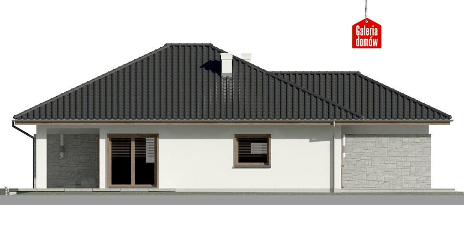 Dom przy Pastelowej 7 - elewacja lewa