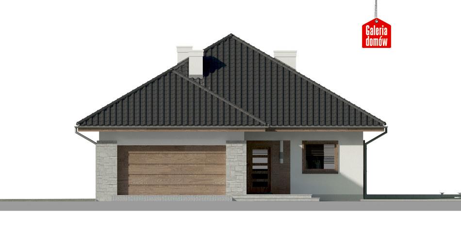 Dom przy Pastelowej 8 bis - elewacja frontowa