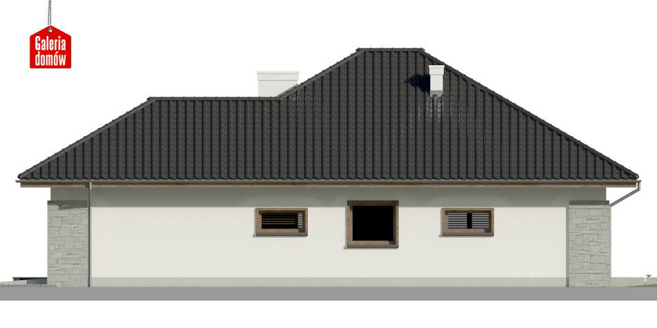 Dom przy Pastelowej 8 bis - elewacja prawa
