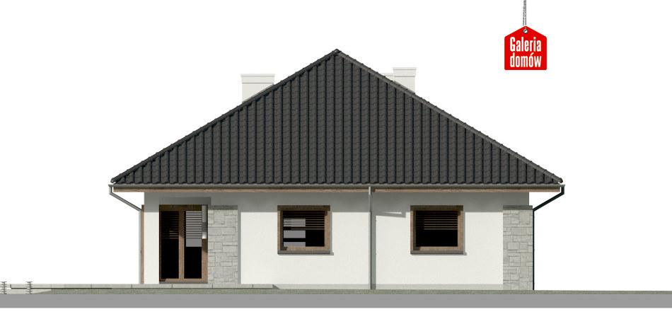 Dom przy Pastelowej 8 bis - elewacja tylna