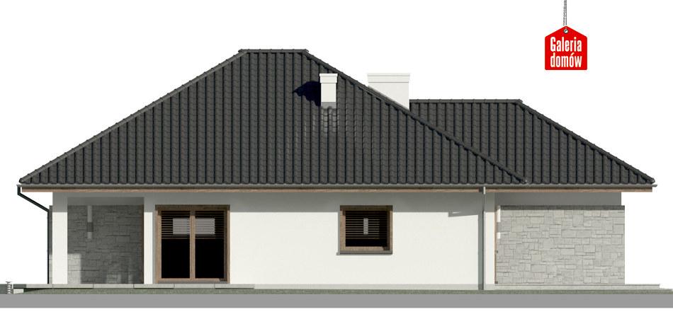 Dom przy Pastelowej 8 bis - elewacja lewa