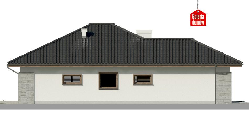 Dom przy Pastelowej 8 - elewacja prawa