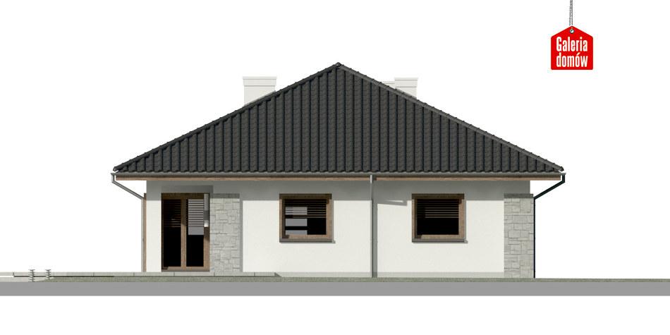 Dom przy Pastelowej 8 - elewacja tylna