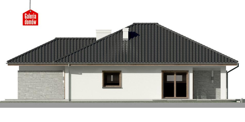 Dom przy Pastelowej 8 - elewacja lewa